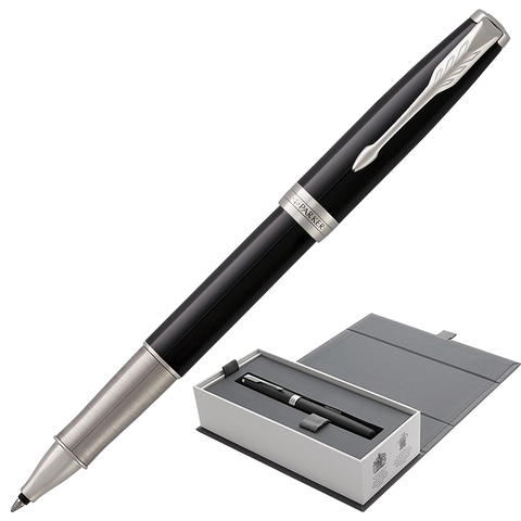 Ручка-роллер подарочная PARKER Sonnet Core Black Lacquer CT, черн.глянц.лак, паллад.дет, чер,1948081  Код: 142342