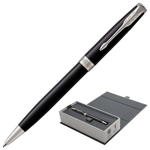 Ручка подарочная шариковая PARKER Sonnet Core Lacquer Black CT, черн.глянц.лак, паллад.,черн,1931502  Код: 142343