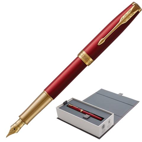 Ручка подарочная перьевая PARKER Sonnet Core Intense Red Lacquer GT, кр.глянц.лак, позол,чер,1931478  Код: 142345
