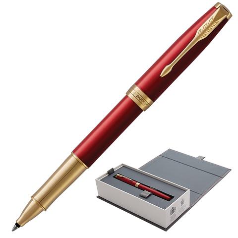 Ручка-роллер подарочная PARKER Sonnet Core Intense Red Lacquer GT, кр.глянц.лак, позол, чер, 1948085  Код: 142346
