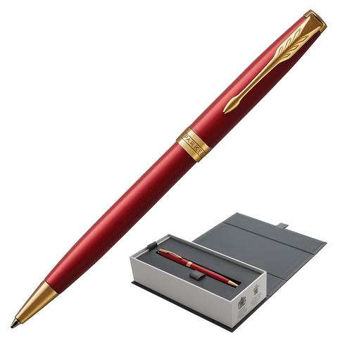 Ручка подарочная шариковая PARKER Sonnet Core Intense Red Lacquer GT, красныйглянц.лак, чер, 1931476  Код: 142347