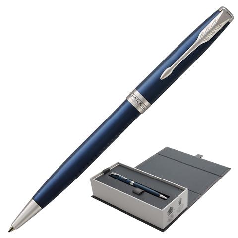 Ручка подарочная шариковая PARKER Sonnet Core Subtle Blue Lacquer CT, синий лак, паллад.,чер,1931536  Код: 142351