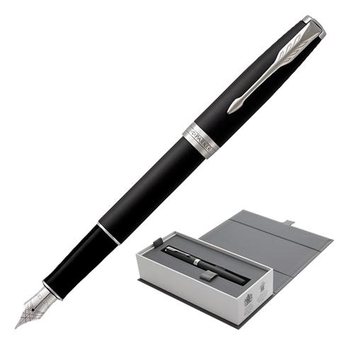 Ручка подарочная перьевая PARKER Sonnet Core Matt Black CT, черн.мат.лак, паллад.дет, черн, 1931521  Код: 142353