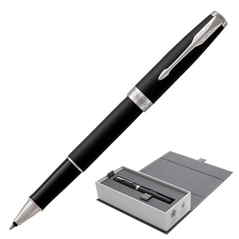 Ручка-роллер подарочная PARKER Sonnet Core Matt Black CT, черн.мат.лак, паллад.покр.дет, чер,1931523  Код: 142354