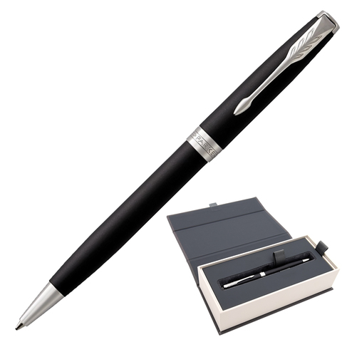 Ручка подарочная шариковая PARKER Sonnet Core Matt Black CT, черн.мат.лак, паллад.покрыт,чер,1931524  Код: 142355