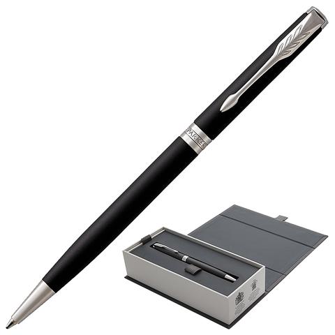 Ручка подарочная шариковая PARKER Sonnet Core Matt Black CT Slim, тонкая, черн.мат.лак, чер, 1931525  Код: 142356