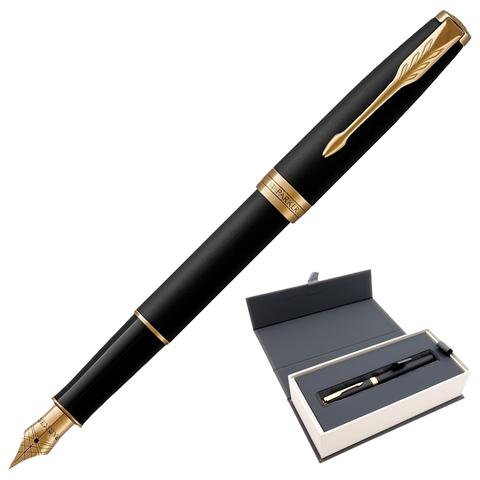 Ручка подарочная перьевая PARKER Sonnet Core Matt Black GT, черн.мат.лак, позолоч.дет, черн, 1931516  Код: 142357