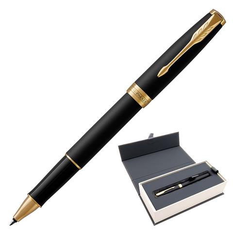 Ручка-роллер подарочная PARKER Sonnet Core Matt Black GT, черн.мат.лак, позол. детали, черн, 1931518  Код: 142358