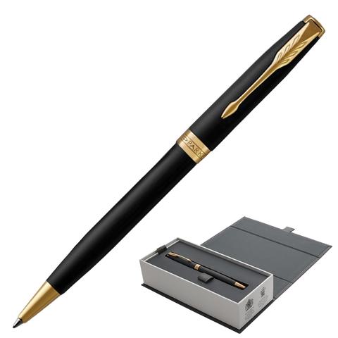 Ручка подарочная шариковая PARKER Sonnet Core Matt Black GT, черн.мат.лак, позолоч.дет, чер, 1931519  Код: 142359