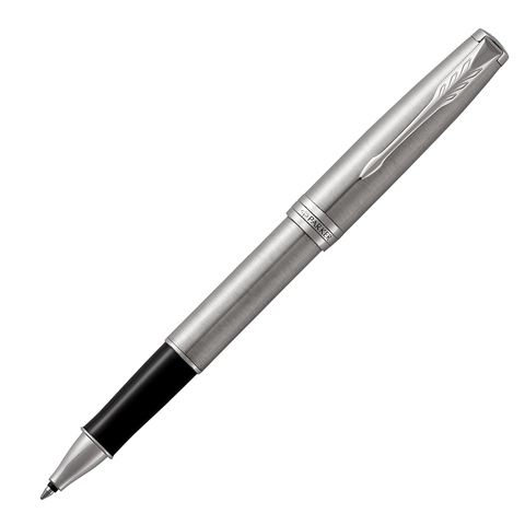 Ручка-роллер подарочная PARKER Sonnet Core Stainless Steel CT, серебрист,паллад.покр.дет,чер,1931511  Код: 142366