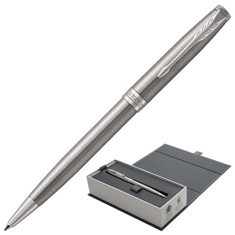 Ручка подарочная шариковая PARKER Sonnet Core Stainless Steel CT, серебрист, паллад.покр,чер,1931512  Код: 142367