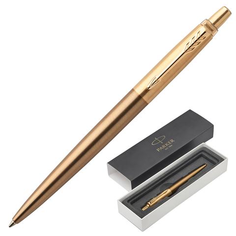 Ручка подарочная шариковая PARKER Jotter Premium West End Gold Brushed GT, бронз.корп,синий, 1953203  Код: 142370