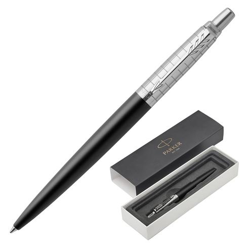 Ручка подарочная шариковая PARKER Jotter Premium Bond Street Black Grid CT, черный, хром.,син,1953195  Код: 142375