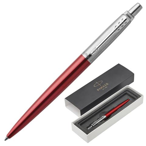 Ручка подарочная шариковая PARKER Jotter Core Kensington Red CT, красныйкорп, хром.дет,синий, 1953187  Код: 142379