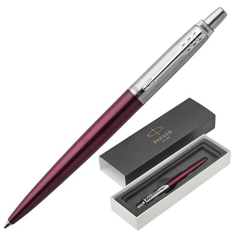 Ручка подарочная шариковая PARKER Jotter Core Portobello Purple CT, пурпурн., хром.дет,синий, 1953192  Код: 142382