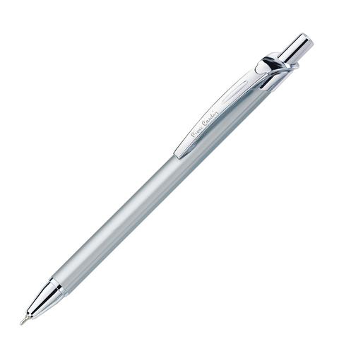 Ручка подарочная шариковая PIERRE CARDIN Actuel, корпус серебристый, алюминий, хром, синяя, PC0502BP  Код: 142423