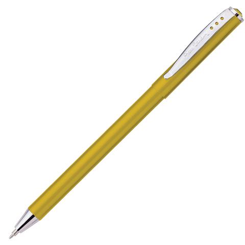 Ручка подарочная шариковая PIERRE CARDIN Actuel, корпус бежевый, алюминий, хром, синяя, PC0703BP  Код: 142432