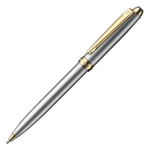 Ручка подарочная шариковая PIERRE CARDIN Eco, корпус серебристый, латунь, золотист. дет,синий, PC4111BP  Код: 142439