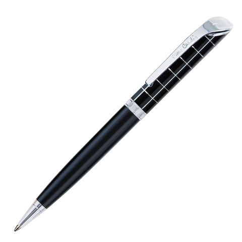 Ручка подарочная шариковая PIERRE CARDIN Gamme, корпус черный, акрил, хром, синяя, PC0874BP  Код: 142454