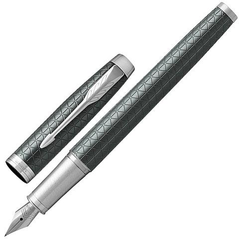 Ручка подарочная перьевая PARKER IM Premium Green CT, зелен., гравир., хромир.детали, синяя, 1931640  Код: 142501
