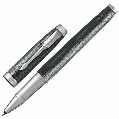 Ручка-роллер подарочная PARKER IM Premium Green CT, зеленый корпус, хромиров.детали, черная, 1931642  Код: 142502