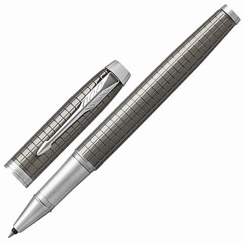 Ручка-роллер подарочная PARKER IM Premium Dark Espresso Chiselled CT, кофейн.лак, хром, черн,1931682  Код: 142511
