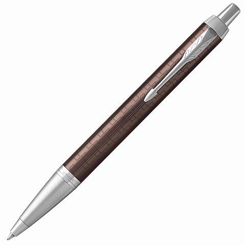 Ручка подарочная шариковая PARKER IM Premium Brown CT, коричн., гравир., хром.детали, синяя, 1931679  Код: 142518