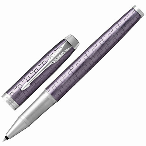Ручка-роллер подарочная PARKER IM Premium Dark Violet CT, фиолет., гравир, хром.дет, черная, 1931639  Код: 142520