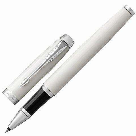 Ручка-роллер подарочная PARKER IM Core White Lacquer CT, белый глянц. лак, хром.дет, черная, 1931674  Код: 142526