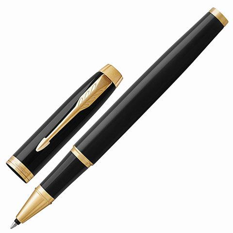 Ручка-роллер подарочная PARKER IM Core Black Lacquer GT, черный глянц. лак, позол.дет, черн, 1931659  Код: 142532