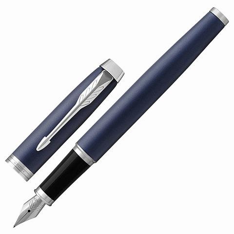 Ручка подарочная перьевая PARKER IM Core Matte Blue CT, темно-синий мат.лак, хром.дет, синяя,1931647  Код: 142537