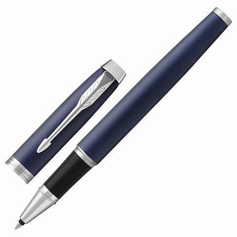 Ручка-роллер подарочная PARKER IM Core Matte Blue CT, темно-синий мат.лак, хром.дет, черная, 1931661  Код: 142538