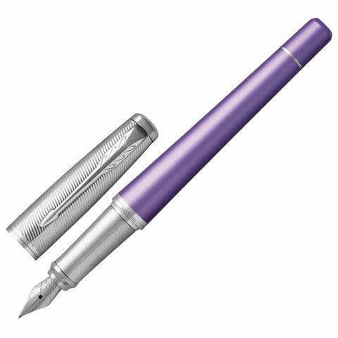 Ручка подарочная перьевая PARKER Urban Premium Violet CT, фиолетов.корп, хром.детали, синяя, 1931621  Код: 142549
