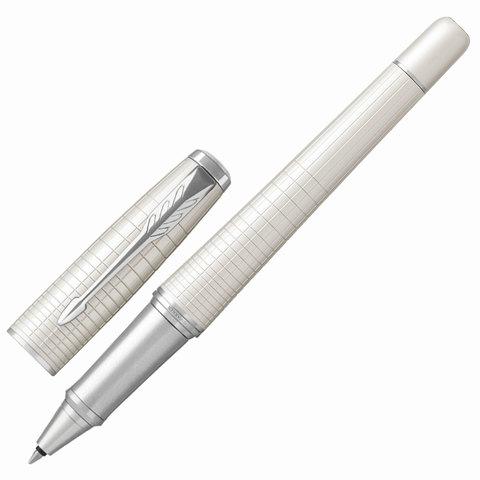 Ручка-роллер подарочная PARKER Urban Premium Pearl Metal CT, жемч.лак, гравир, хром, черная, 1931610  Код: 142556