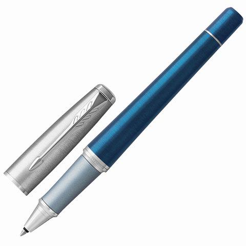 Ручка-роллер подарочная PARKER Urban Premium Dark Blue CT, темно-син., хромир. дет, черная, 1931566  Код: 142562