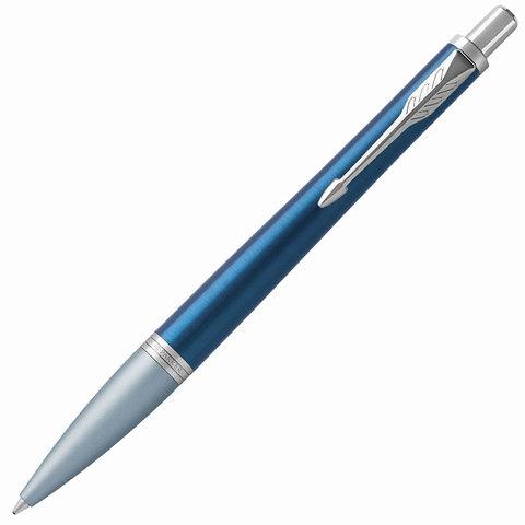 Ручка подарочная шариковая PARKER Urban Premium Dark Blue CT, темно-син., хромир.дет, синяя, 1931565  Код: 142563