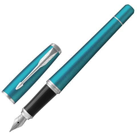 Ручка подарочная перьевая PARKER Urban Core Vibrant Blue CT, изумрудн.глянц.лак,хром.дет,син,1931594  Код: 142588