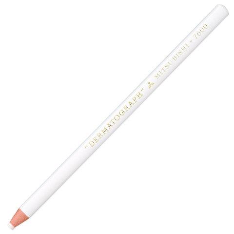 Карандаш восковой универсальный для любых поверхностей UNI MITSUBISHI DERMATOGRAPH, белый, P-7600  Код: 142625