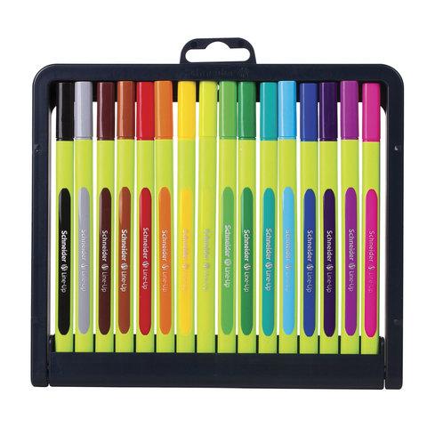 Ручки капиллярные SCHNEIDER, НАБОР 16шт, Line-Up, трехгранные, линия 0,4мм, ассорти, 191092  Код: 142716