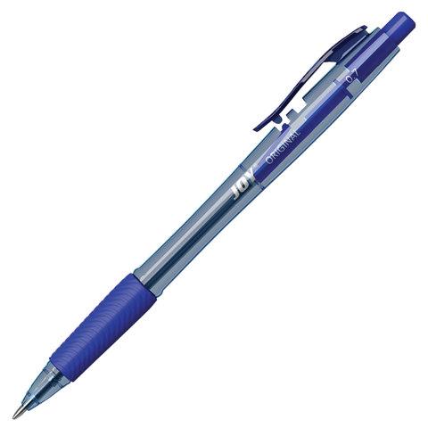 Ручка шариковая масляная автомат. ERICH KRAUSE Ultra Glide Joy, 0,7мм, линия 0,35мм, синяя, 43346  Код: 142856