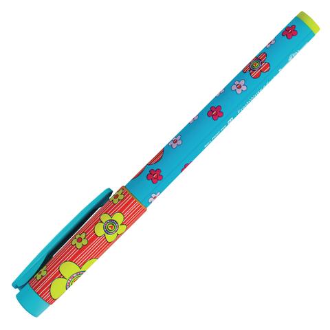 Ручка шариковая BRUNO VISCONTI FreshWrite, Цветы-сердечки, узел 0,7мм, линия 0,5мм, синяя,20-0214/09  Код: 142873