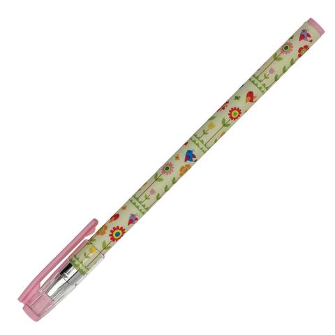 Ручка шариковая BRUNO VISCONTI HappyWrite, Цветы и птички, узел 0,5мм, линия 0,3мм, синяя,20-0215/05  Код: 142901