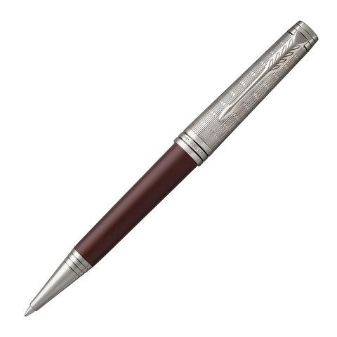 Ручка шариковая PARKER Premier Custom Crimson Red RT, корпус красный, детали рутений, черная, 1972065  Код: 143102