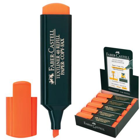 "Текстмаркер FABER-CASTELL ""1548"", скошеный наконечник 1-5мм, оранжевый, 154815  Код: 150371"
