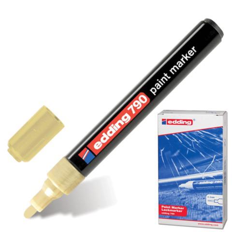 Маркер-краска лаковый EDDING 790, 2-4мм, круглый наконечник, пластиковый корпус, золотой, E-790/53  Код: 150588