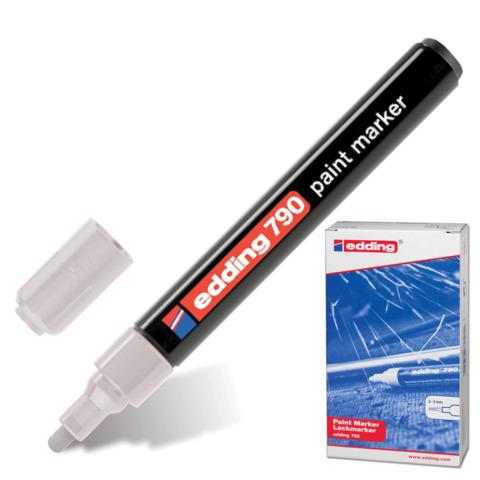 Маркер-краска лаковый EDDING 790, 2-4мм, круглый наконечник, пластиковый корпус,серебряный, E-790/54  Код: 150589
