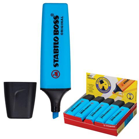 "Текстмаркер STABILO ""Boss"", скошенный наконечник 2-5 мм, синий, 70/31  Код: 150641"