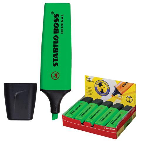 "Текстмаркер STABILO ""Boss"", скошенный наконечник 2-5 мм, зеленый, 70/33  Код: 150642"