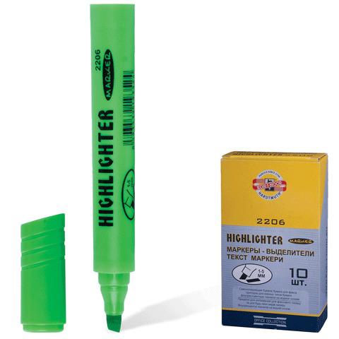 Текстмаркер KOH-I-NOOR, скошенный наконечник 1-5 мм, зеленый, 7722062501KSRU  Код: 150666