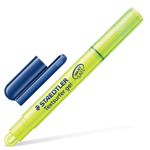 "Текстмаркер STAEDTLER (Германия) ""Textsurfer"", гелевый, сухой, круглый, 3 мм, желтый, 264-1  Код: 150693"